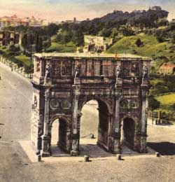 Postcard of Arch of Constantine